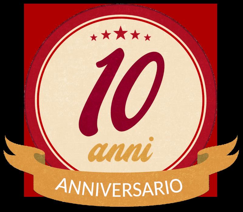 badge 10mo anniversario